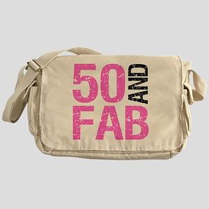 Fabulous 50th Birthday Messenger Bag