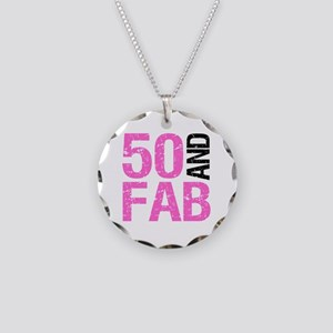 Fabulous 50th Birthday Necklace Circle Charm