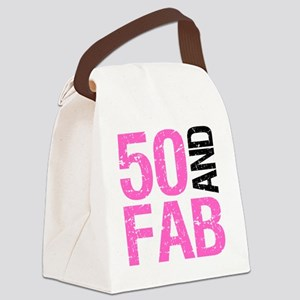 Fabulous 50th Birthday Canvas Lunch Bag