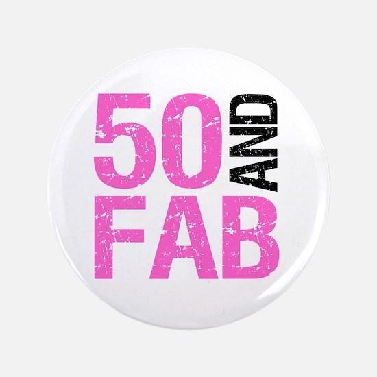 Fabulous 50th Birthday Button