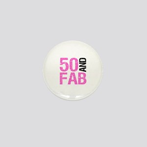 Fabulous 50th Birthday Mini Button