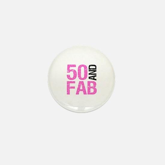 Fabulous 50th Birthday Mini Button