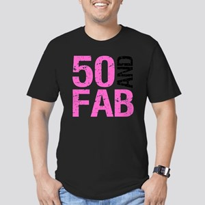 Fabulous 50th Birthday Men's Fitted T-Shirt (dark)
