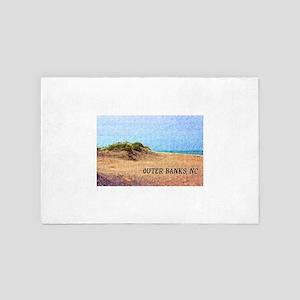 Outer Banks NC Beach Dune 4' x 6' Rug