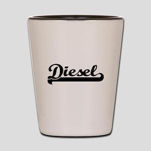 Diesel surname classic retro design Shot Glass