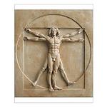 Vitruvian Man relief Small Poster
