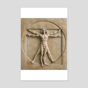 Vitruvian Man relief Mini Poster Print