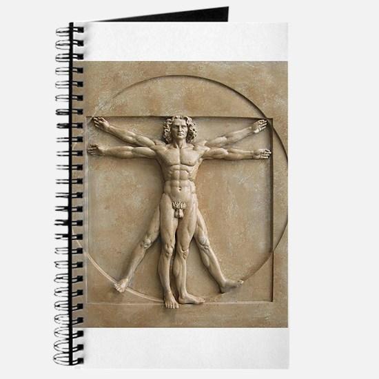 Vitruvian Man relief Journal