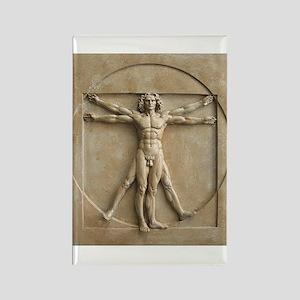 Vitruvian Man relief Rectangle Magnet