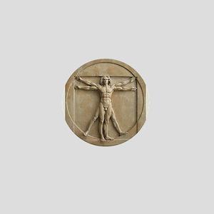 Vitruvian Man relief Mini Button
