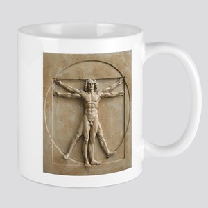 Vitruvian Man Relief Mug Mugs