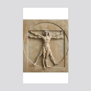 Vitruvian Man relief Sticker (Rectangle)