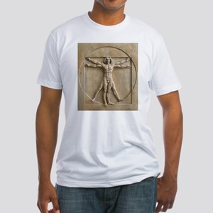 Vitruvian Man relief Fitted T-Shirt