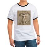Vitruvian Man relief Ringer T