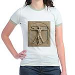 Vitruvian Man relief Jr. Ringer T-Shirt