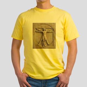 Vitruvian Man relief Yellow T-Shirt