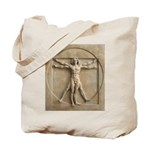Vitruvian Man relief Tote Bag