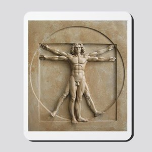 Vitruvian Man relief Mousepad
