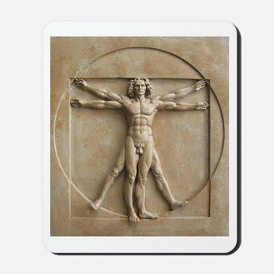 Vitruvian Man relief Mousepad