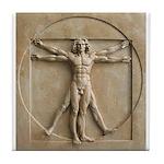 Vitruvian Man relief Tile Coaster