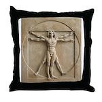Vitruvian Man relief Throw Pillow