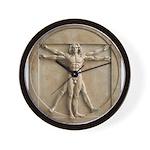 Vitruvian Man relief Wall Clock