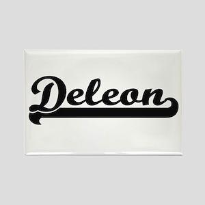 Deleon surname classic retro design Magnets