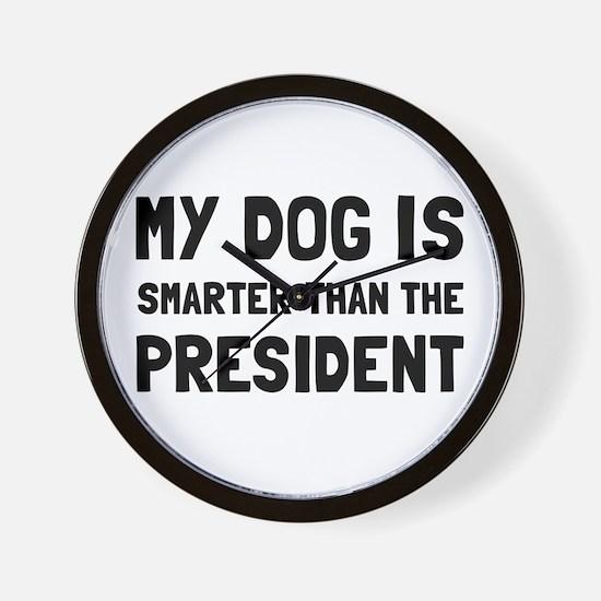 Dog Smarter President Wall Clock
