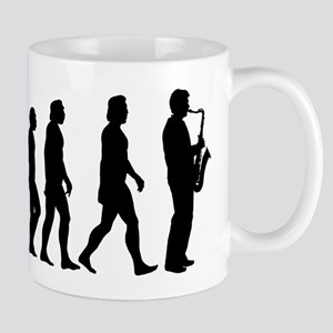 Evolution Saxophone 11 oz Ceramic Mug