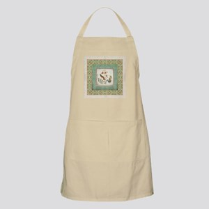 Chinoiserie Hummingbird n Exotic Floral Vint Apron