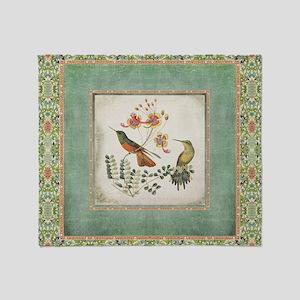 Chinoiserie Hummingbird n Exotic Flo Throw Blanket