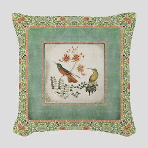 Chinoiserie Hummingbird n Exot Woven Throw Pillow