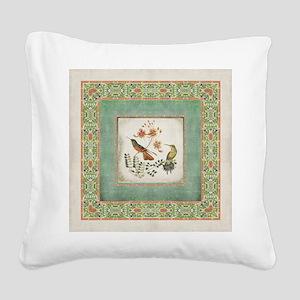 Chinoiserie Hummingbird n Exo Square Canvas Pillow