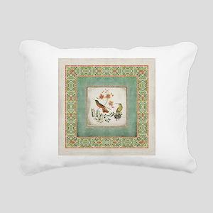 Chinoiserie Hummingbird Rectangular Canvas Pillow