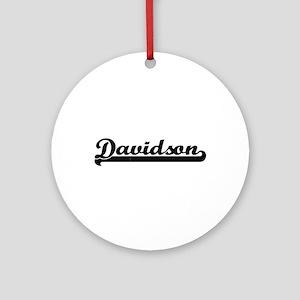 Davidson surname classic retro de Ornament (Round)