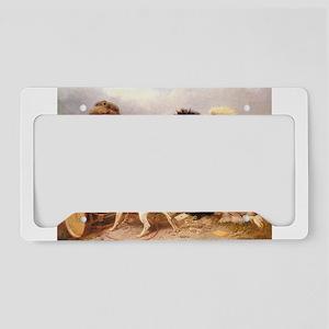 card player art License Plate Holder