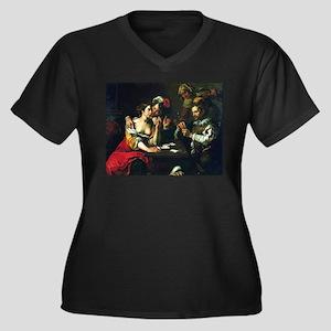 card player art Plus Size T-Shirt