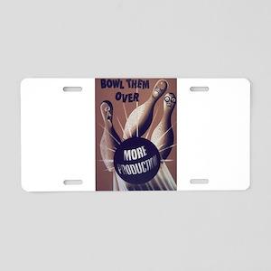bowling art Aluminum License Plate