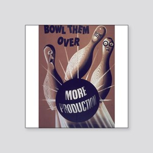 bowling art Sticker