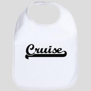 Cruise surname classic retro design Bib