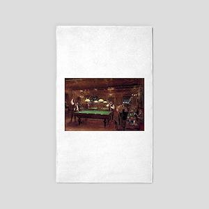 billiards art Area Rug