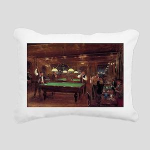 billiards art Rectangular Canvas Pillow