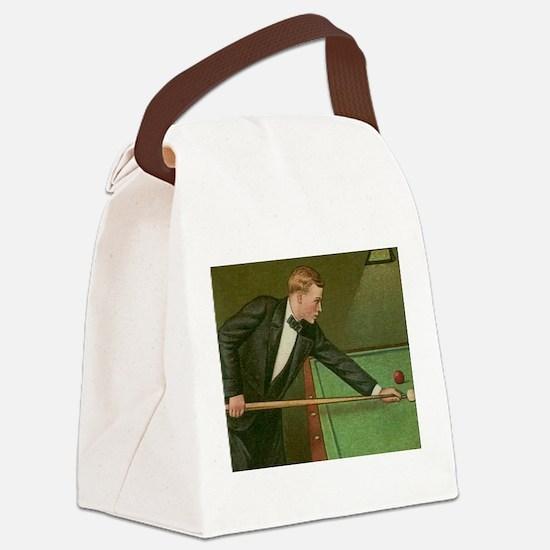 billiards art Canvas Lunch Bag