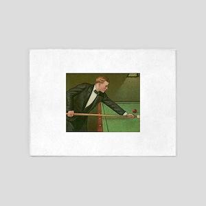billiards art 5'x7'Area Rug