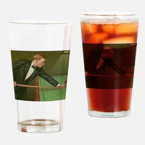 billiards art Drinking Glass