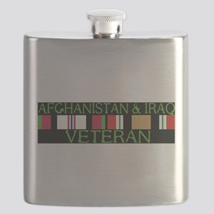 Afghanistan Iraq Veterans Flask