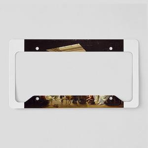 billiards art License Plate Holder