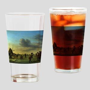 golfing art Drinking Glass