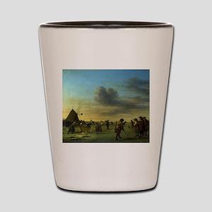 golfing art Shot Glass