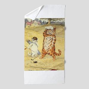 golfing art Beach Towel